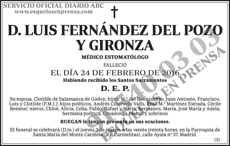 Luis Fernández del Pozo y Gironza